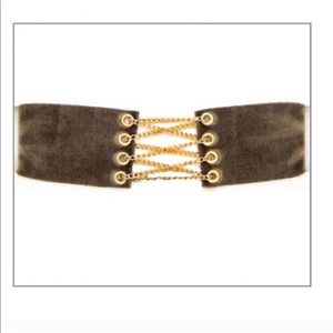 Jewelry - SALE!! Chain Corset Velvet Choker ⚡️